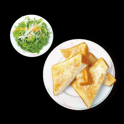バタートースト&ミニサラダ詳細写真