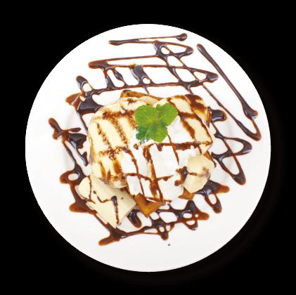 チョコレートバナナワッフル詳細写真