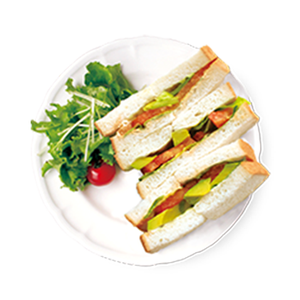 アボカドとトマトの<br>コブサラダサンドイッチ詳細写真