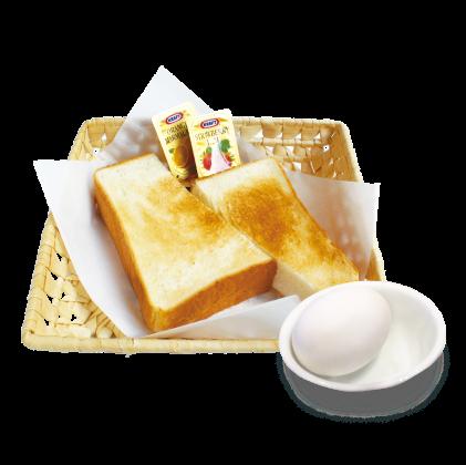 トースト + ゆで玉子<br>【サイドメニュー】詳細写真